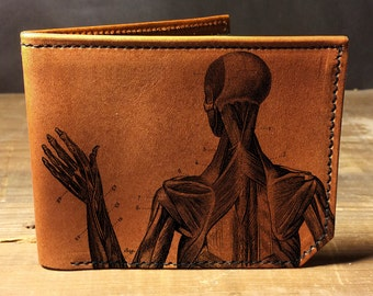 wallet - leather wallet - anatomy wallet - mens wallet - 006