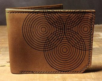 wallet - leather wallet - circles wallet - mens wallet - 0012