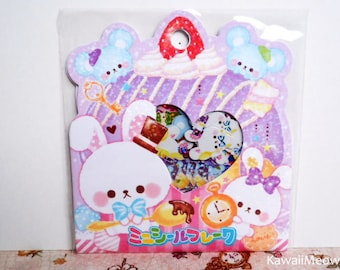 CRUX Sticker Flakes - Sweets Rabbit - 52 Pieces (05272)