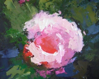 """Daily Painting, Small Oil Painting, Rose Painting, Floral Art, """"Mother's Rose"""", 6x8"""" Oil on Panel"""