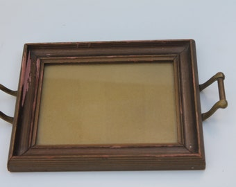 Small Vintage Frame Tray with Handles for Displaying Photograph Vanity Tray