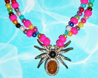 Itsy Glitzy Spider Necklace
