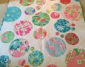 Lilly Pulitzer Clouds Baby Quilt