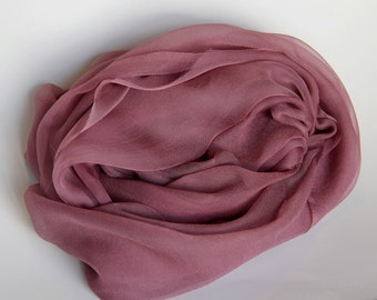 "Dark Brown Silk Scarf - Chiffon Gauze - Photo Prop - Infant Wrap  - Great Gift - Low Shipping - Accessory - 20"" x 84"""