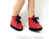"Red Lace Up Boots fit 9""  Effanbee Patsyette Dolls, Available in Black or Red SALE"