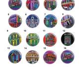 Needle Minder, Size: 38mm, Heather Galler, 38mm, Cross Stitch Keeper, Fridge Magnet, New Orleans, Pin Keeper, CrossStitch Needle Holder