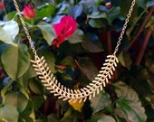 Kaito-Gold Fishtail Necklace