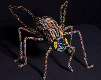 """Beaded African Fly Sculpture 14"""" L X 14.5"""" W X 12"""""""