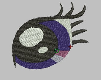 Twilight Sparkle Eyes Embroidery Design Files - Pick Your Size & Format