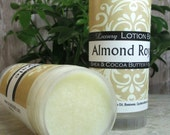 Lotion Bar, Almond Royale, Shea, Cocoa butter, solid lotion stick, super moisturizing formula, handmade solid lotion