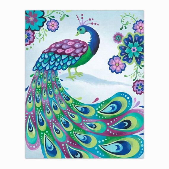 Peacock Art Print 8 X 10