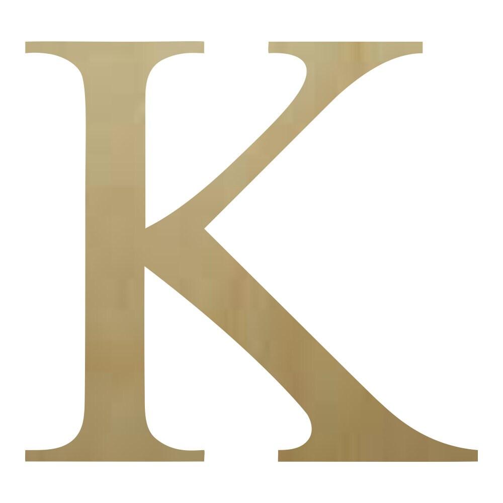 Wooden Greek Letter Kappa Paintable