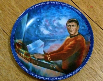 """1983 Star Trek """"Scotty"""" Plate - Limited Edition - Hamilton Collection Plate - James Doohan"""