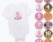 baby monthly stickers wild animal print girls month baby growth milestone newborn baby shower photo prop pre cut pink zebra leopard giraffe