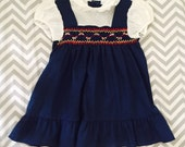 Vintage baby toddler smocked classic dress
