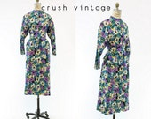40s Three Piece Suit Small / 1940s Vintage Floral Peplum Blouse and Skirt / Via Giulia Outfit