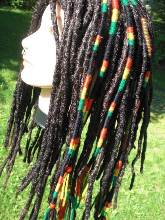Items similar to Ready To Ship Rasta Color Stripe Hair ...