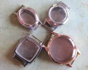 Vintage  Watch parts - watch Cases -  Steampunk - Scrapbooking  j76
