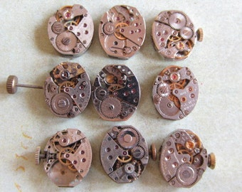 Steampunk watch parts - Vintage Antique Watch movements Steampunk - Scrapbooking g21