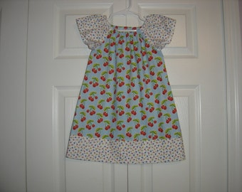 Girls Vintage Peasant Style Dress   Size 3T-7/8