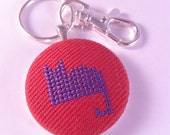 SALE! Cat stitched key chain