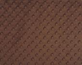 Chocolate Minky Dot, 1 HALF yard, Shannon Fabrics