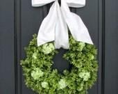 Wedding Boxwood Wreaths,Faux Boxwood Wreath,Year Round Wreath, Artificial Boxwood Wreaths for Weddings, Home Decorating Wreath