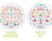 Embroidery Pattern Set: Harvest Sky and Pompeii Arabesque PDF