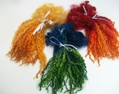 Tennessee Tees-water Lasagna. Dyed extra long Tees-water locks.Felting.Spinning. Doll hair.Waldorf dolls. Blythe dolls. Cabbage patch kids.