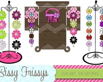 INSTANT DOWNLOAD - Personal Use - Commercial Use - Digital Embellishment - Digital Art - Store Bow Racks Clipart - Scarpbooking - 91732211