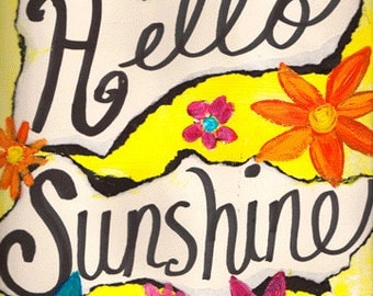 """Hello Sunshine 5""""x7"""" Blank All Occasion Card with Envelope, Hello Card, Hello Collection, Wholesale Greeting Cards, Hello Stationery"""