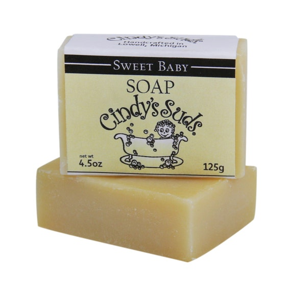 Sweet Baby Unscented Sensitive Skin Natural Soap Handmade Soap for the Bath and Baby