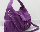 SALE - 20% OFF Classic in Purple / Messenger / diapers bag / Hobo / Shoulder Bag / Purse / tote / Handbags / women / For her