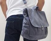 New Year SALE - 20% OFF Maxx in Gray Last 2 / Backpack / Satchel / Rucksack / Messenger / Men / Women / Laptop / For Him / For Her / Gift