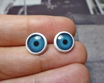 Blue Eye Stud Earrings
