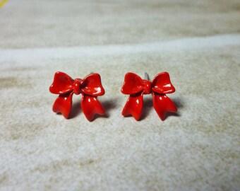 SALE - Sweet Ribbon Bow Earrings