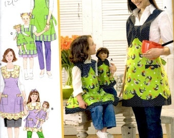 Simplicity 3746 Sewing Pattern - Child, Miss & 18 Inch Doll Aprons