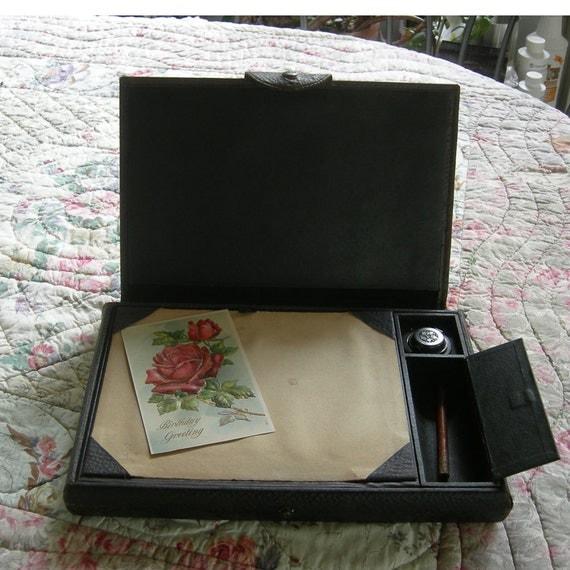 antique leather writing case 1800 u0026 39 s writing desk