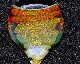 Exquisite Guitar Pick in Twisted Baller Tech with Ripple Grip - Handblown Glass