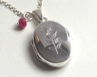 sunflower sterling silver locket necklace