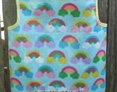 Art Smock Apron - Rainbows Wipe Clean Vinyl Apron - Fits 2T-4T