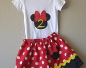 Disney Outfits For Girls - Disney Shirt and Skirt