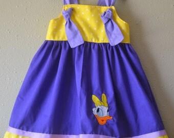 Disney knot dress Daisy Duck birthday dress Daisy dress birthday outfit