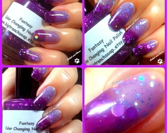 "Color Changing Thermal Nail Polish - ""FANTASY"" - FREE U.S. SHIPPING - Temperature Changing - Custom Blended Nail Polish/Lacquer"