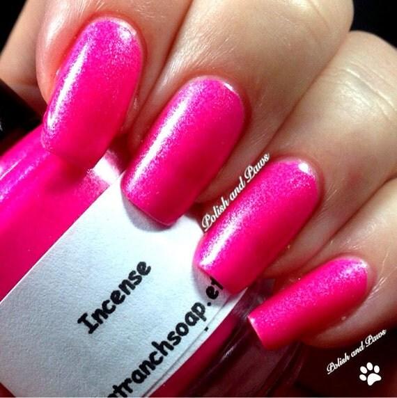 Fluorescent Neon Nail Polish: Neon Magenta Pink Nail Polish Fluorescent INCENSE UV
