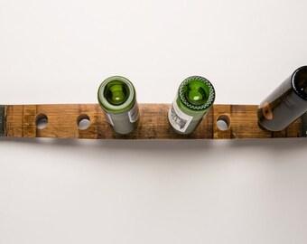 Horizontal Napa Barrel Stave Wine Rack