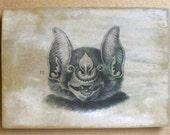 Bat Head #11 5x7 art tile