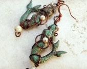 Wire wrapped mermaid earrings, Jewelry Affaire feature