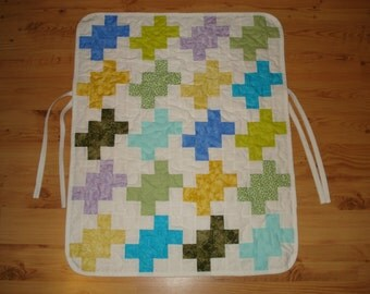Stroller Quilt, Car Seat Quilt, blue, yellow, green, for baby, blanket,