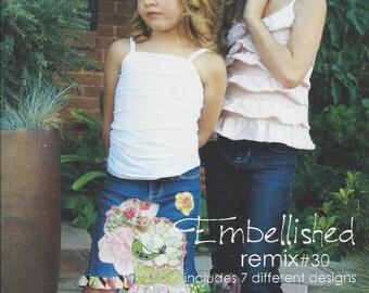 Sale!   Embellished re-mix pattern (PFP030) - Pink Fig